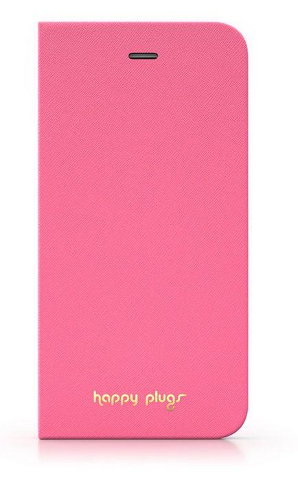 Happy Plugs flipové pouzdro pro Apple iPhone 6/6S (růžové)