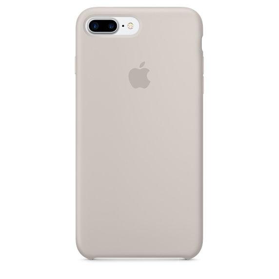 Apple silikonový kryt pro iPhone 7 Plus, kamenně šedý