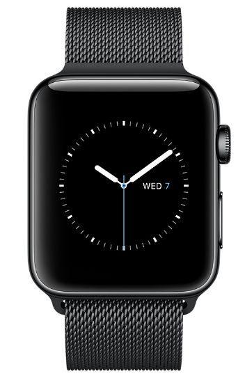 Apple Watch Series 2 38mm vesmírně černá nerezová ocel/vesmírně černý milánský tah