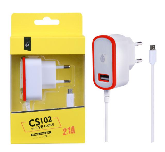 Aligator Plus CS102 Micro USB (bílo červená)