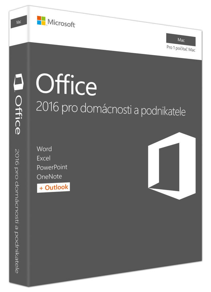 Microsoft Office 2016 pro Mac pro domácnosti a podnikatele