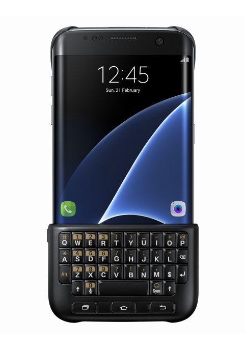SAMSUNG Zadný kryt s klávesnicou pre Galaxy S7 Edge (čierna)