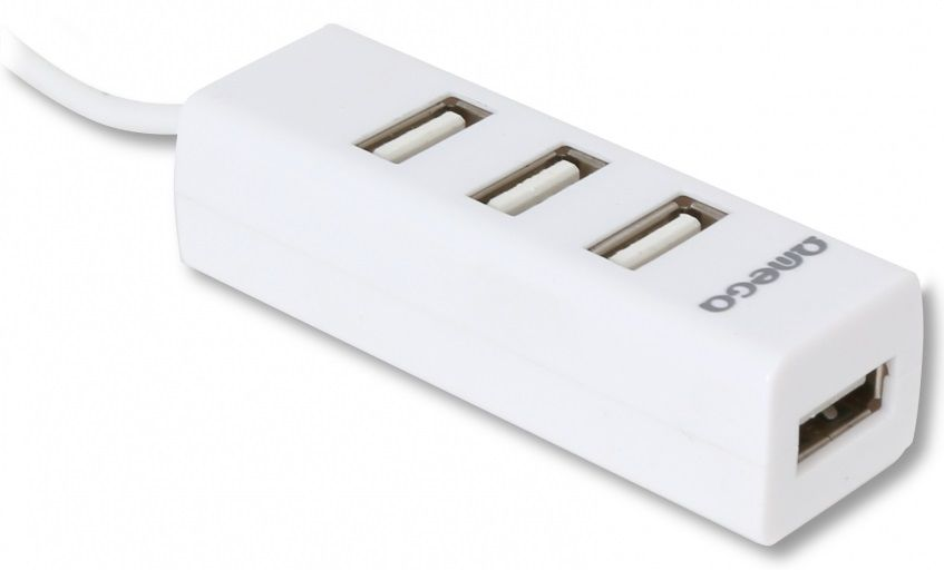 Omega 4 PORT bílý USB hub