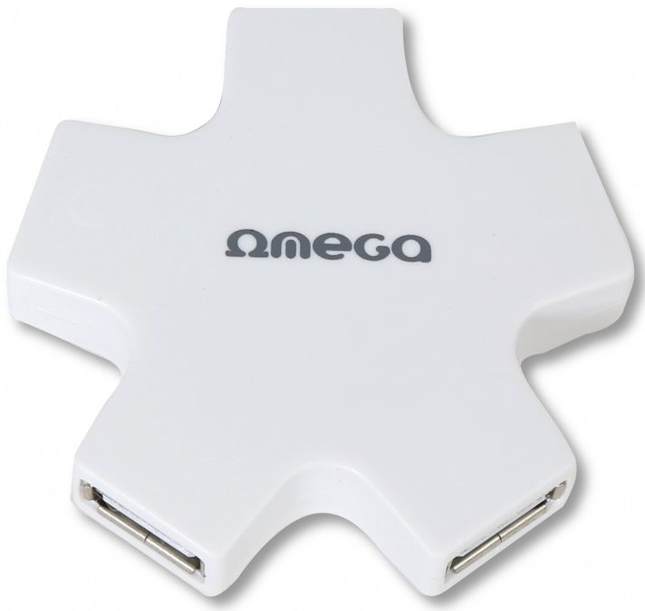 Omega 4 PORT STAR bílý USB hub
