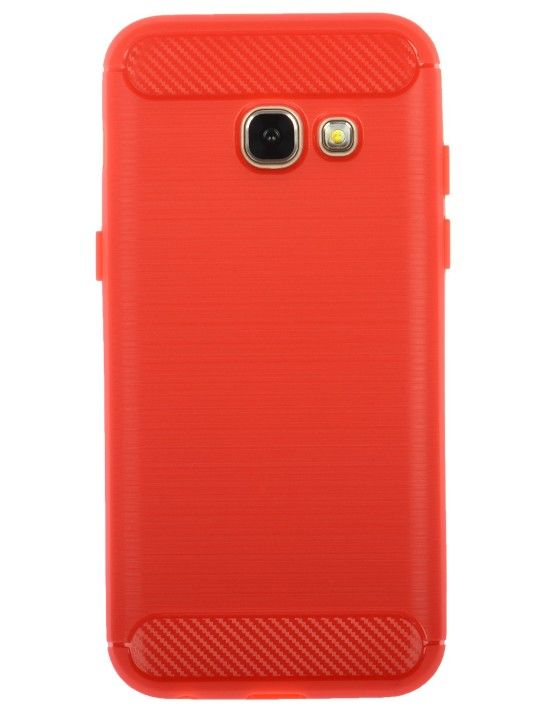 Winner Galaxy A3 (2017) červené pouzdro carbon