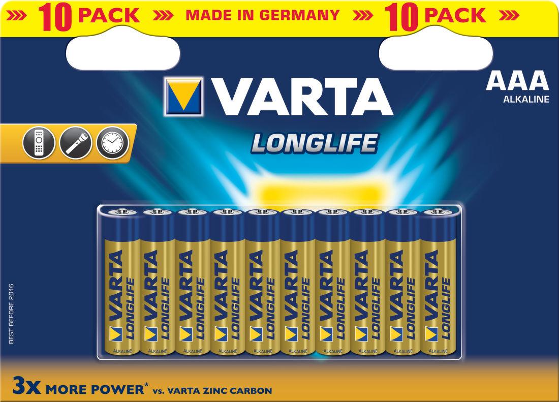 VARTA Longlife 10ks AAA, Baterie