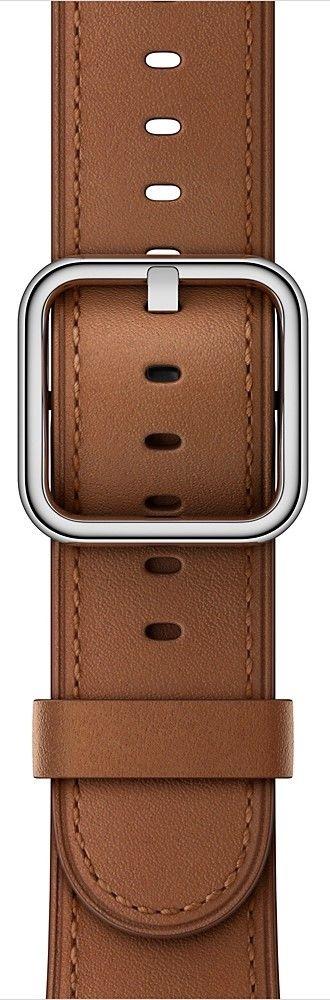 Apple Watch 42mm sedlově hnědý klasický řemínek