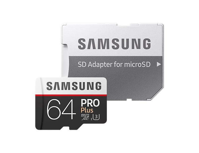 Samsung Micro SDXC 64GB PRO Plus + SD adaptér MB-MD64GA/EU