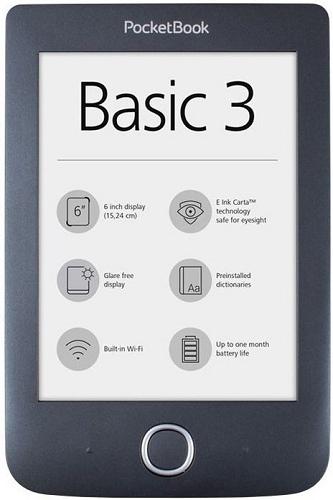 PocketBook 614+ Basic 3 černá + dárek PocketBook DOTS černo-šedé zdarma