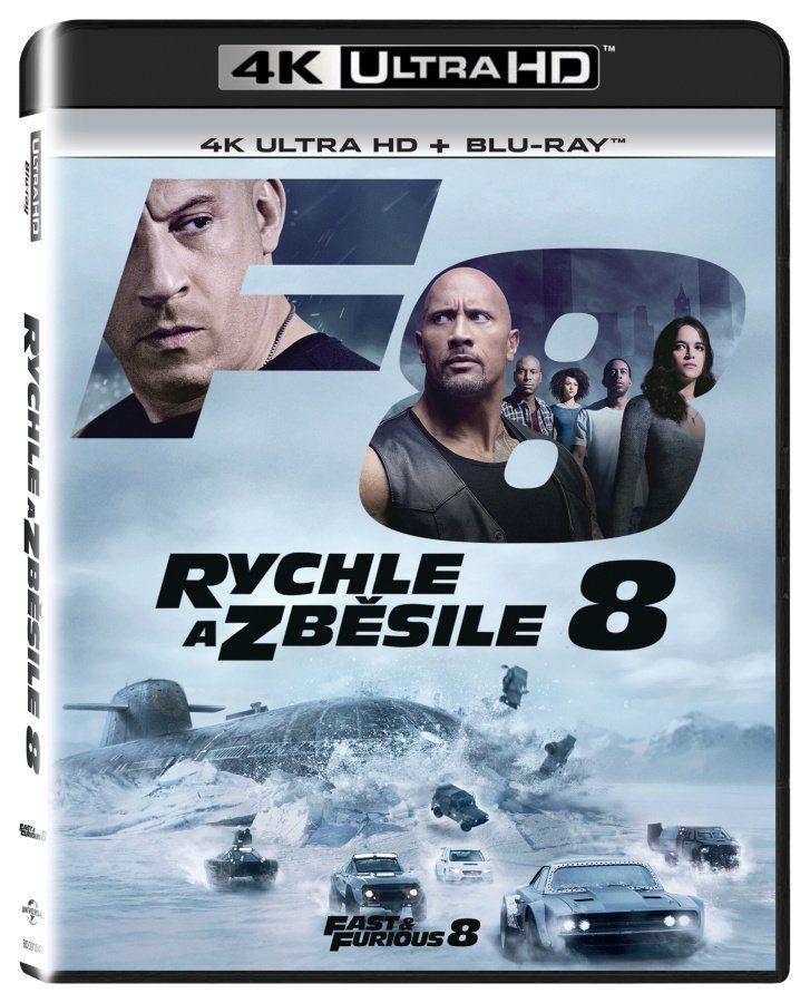 Rychle a zběsile 8 - 2xBD (Blu-ray + 4K UHD film)
