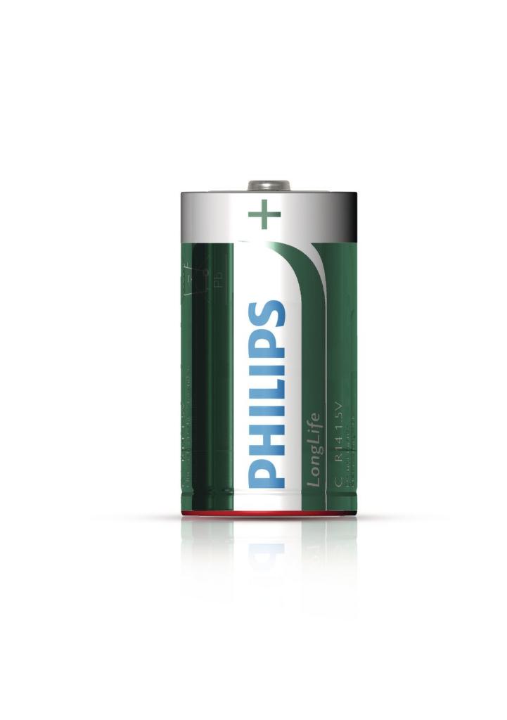 Philips LongLife (R14) mono C, 2ks