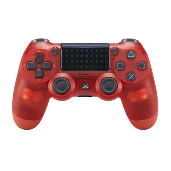 Sony PS4 DualShock 4 v2, průhledný červený