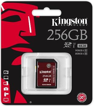 Kingston SDXC 256GB 90MB/s Class 10 UHS-I U3