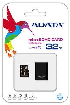 ADATA microSDHC 32 GB Class 4 + USB čtečka