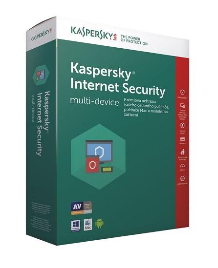 Kaspersky Internet Security 2017 1 licence / 1rok - 3 měsíce zdarma