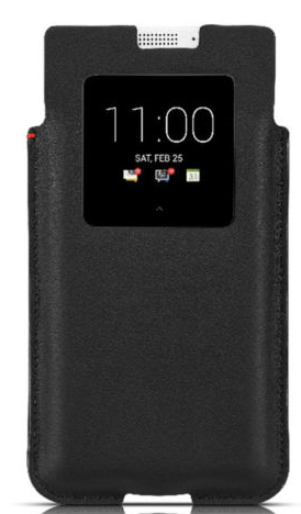 BlackBerry Smart Pocket pro BlackBerry KEYone, černá kůže