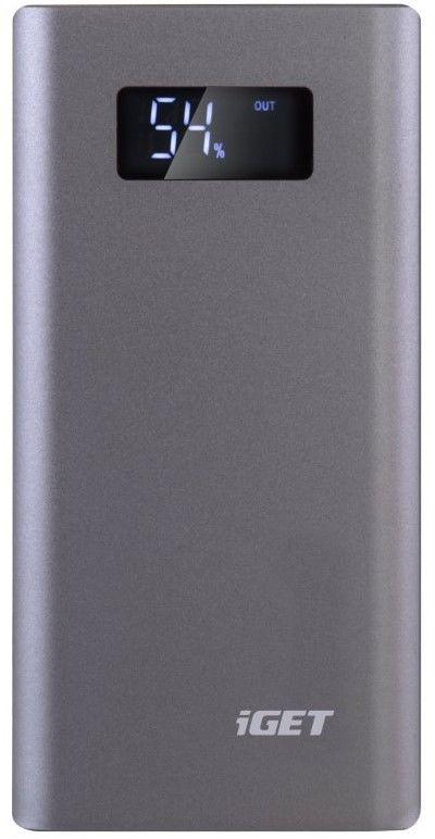 iGET Power B-10000G powerbanka 10 000 mAh, šedá