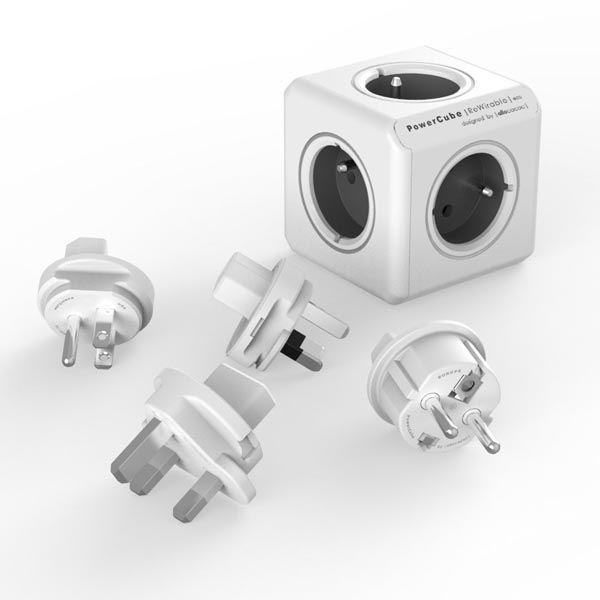 Power Cube Rewirable šedý