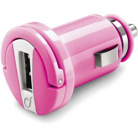 CellularLine autonabíječka s USB výstupem, 1A (růžová)