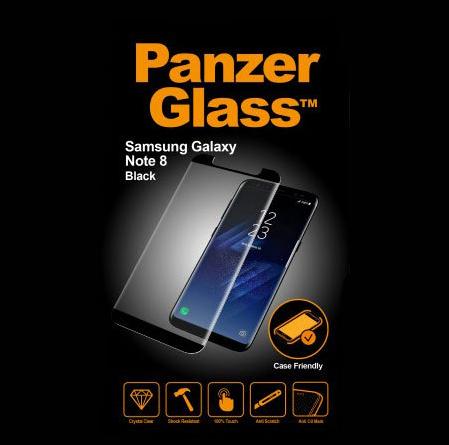 Panzerglass sklo pro Samsung Galaxy Note 8, černá