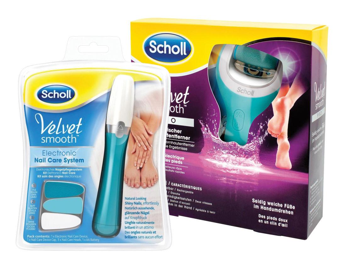 Scholl Velvet Smooth Wet&Dry elektrický pilník na chodidla + pilník na nehty