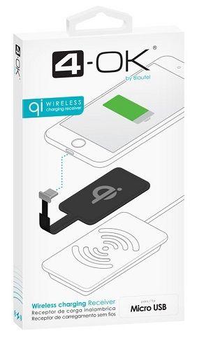 4-OK micro USB přijímač pro bezdrátové nabíjení