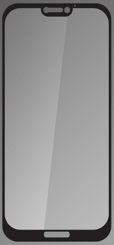 Q sklo tvrzené sklo pro Huawei P20 Lite, černé