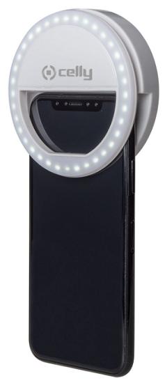 Celly ClickLight Pro přídavný blesk k chytrému telefonu, bílý