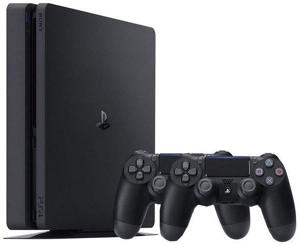 Sony PlayStation 4 Slim 1TB + 2x ovladač DualShock 4 v2