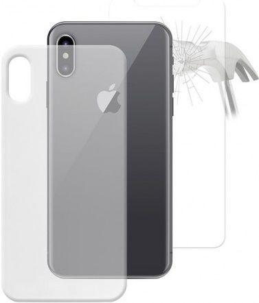 Puro Nude 0.3 pouzdro pro Apple iPhone X, transparentní + ochranné sklo