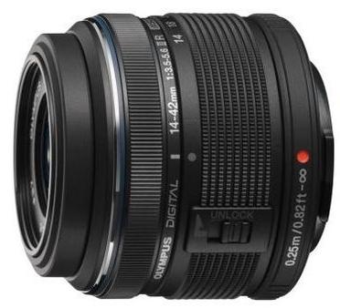 Olympus M. Zuiko Digital 14-42mm f/3,5-5,6 II R, černá