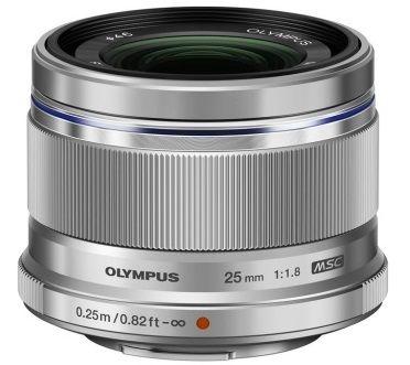 Olympus M.ZUIKO DIGITAL 25mm f/1:1.8 stříbrný