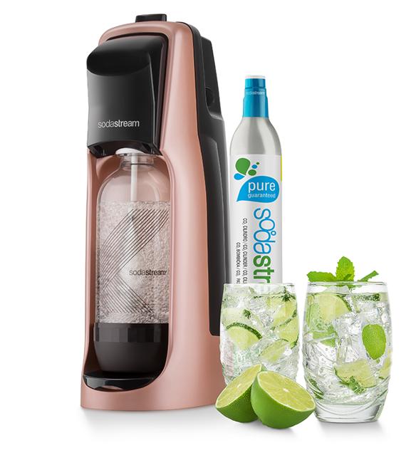 Sodastream Jet Premium růžový + dárek SodaStream Žížaláci Sada pro děti 2 lahve+dárky zdarma