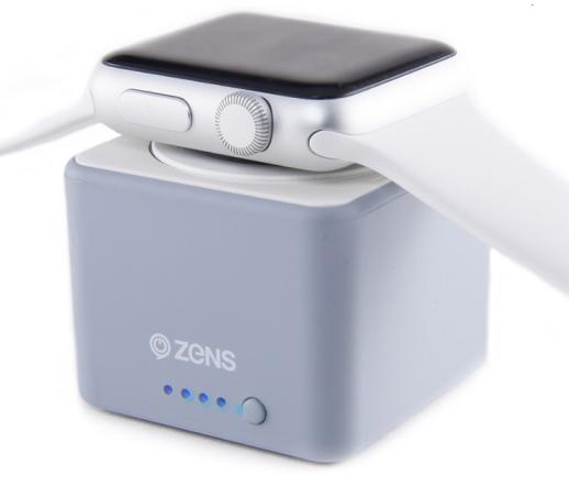 Zens powerbanka pro Apple Watch 1300 mAh, šedá