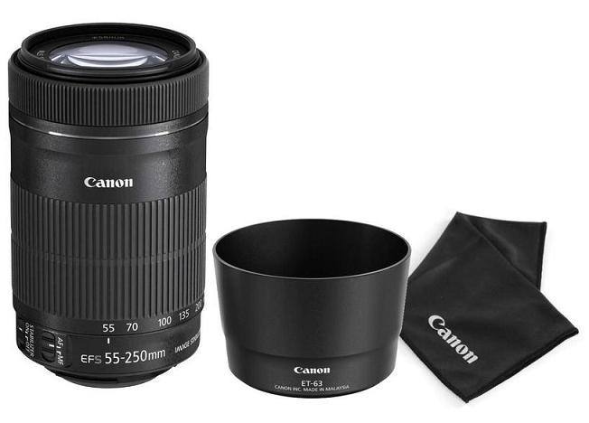 Canon Kit EF-S 55-250mm f/4,0-5,6 IS STM + ET-63 + utěrka