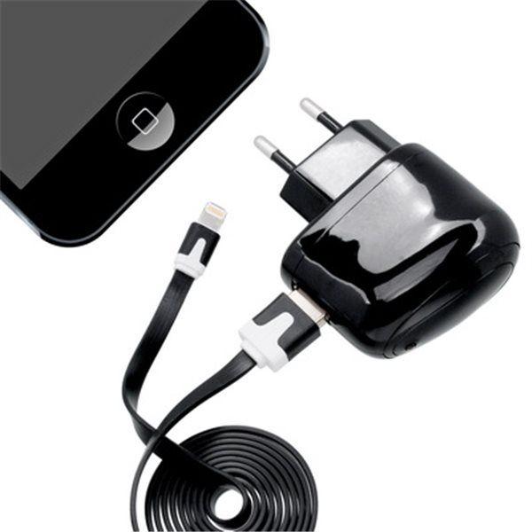 MobilNet síťová nabíječka pro iPhone 5 (černá)
