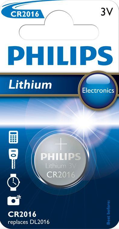 Philips Lithium CR2016, 1ks