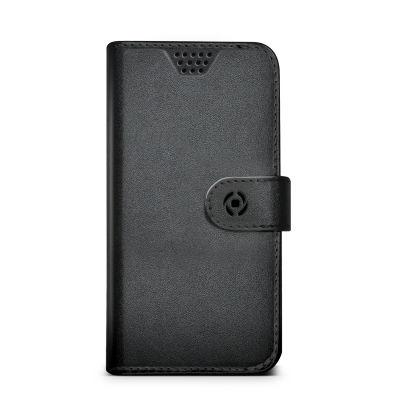 """Celly Unica knížkové pouzdro velikost XXL 5""""-5,7"""", černá"""