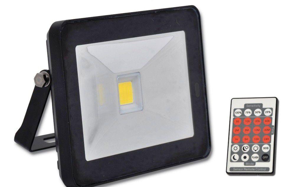 Ecolite LED reflektor s HF senz.,COB,10W,IP44,4100K (černý)