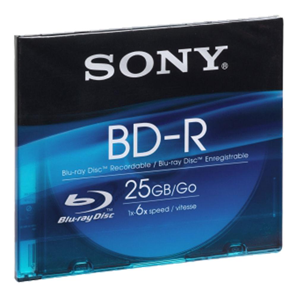 Sony Blu-Ray BD-R 25GB 6x Speed, Slimbox, 1ks