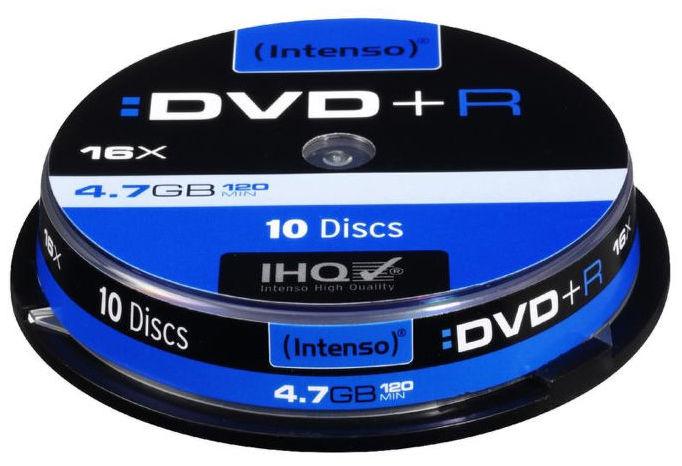 Intenso DVD+R, 4111652, 10-pack, 4.7GB, 16x, slim case