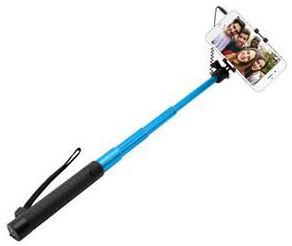 Fixed hliníková selfie tyč s 3,5 mm konektorem, modrá