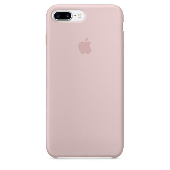 Apple silikonový kryt pro iPhone 7 Plus, pískově růžový