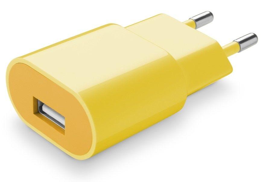 Cellular Line Style&Color nabíječka 1A (žlutá)
