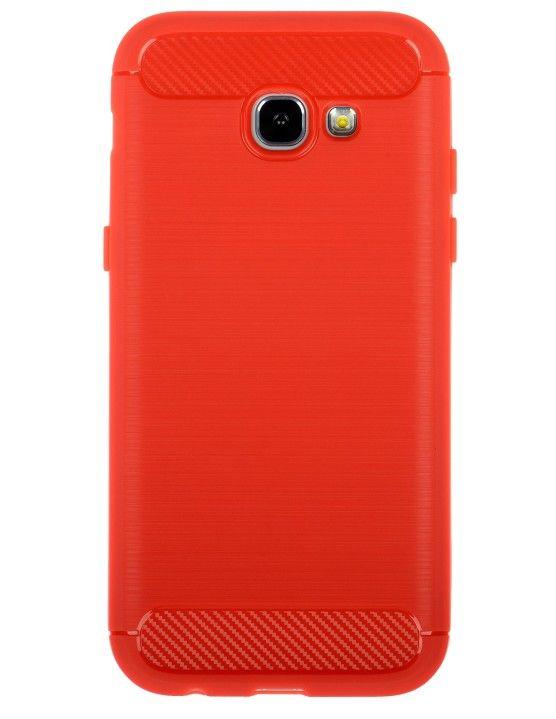 Winner Galaxy A5 (2017) červené pouzdro carbon