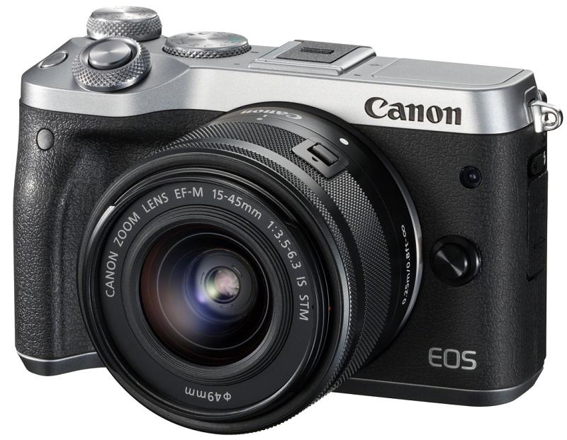 Canon EOS M6 + EF-M 15-45mm IS STM stříbrný