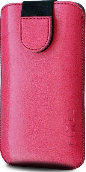 Fixed Soft Slim 6XL ružové pouzdro se zavíraním