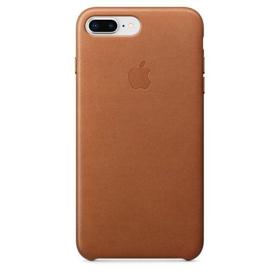 Apple Leather Case pro iPhone 8+/7+, hnědá