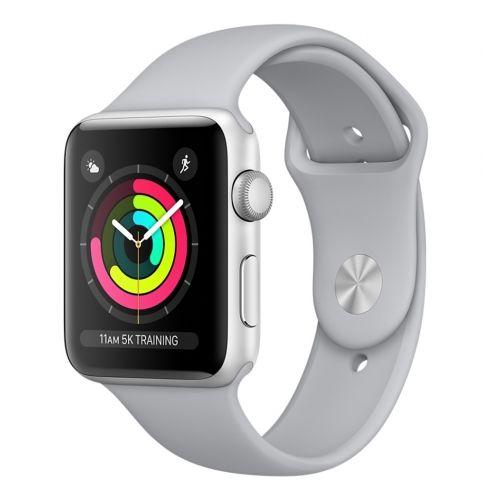 Apple Watch Series 3 42mm štříbrný hliník/mlhově šedý sportovní řemínek