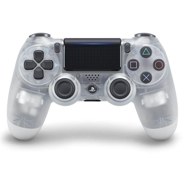 Sony PS4 DualShock 4 v2, průhledný křišťálový